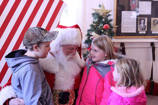 Santa was in town at the Frisco Historic Museum and Park as part of the Wassail Days holiday celebration.