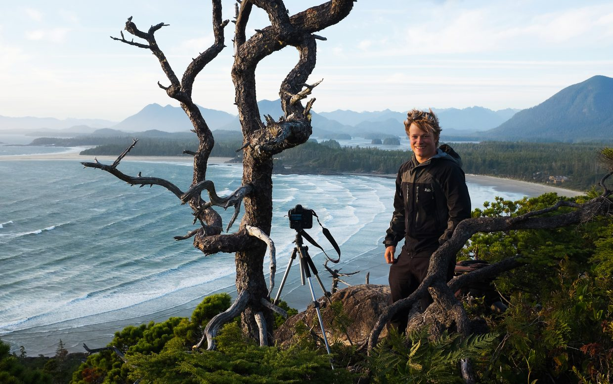 National Geographic wildlife photographer Bertie Gregory on-site for the filming of his new digital series,