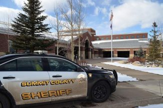 A patrol car in front of Summit High School. The Summit County Sheriff's Office and Summit School District hope to add a second school resource officer in 2017 to bring that program back to its pre-recession strength.