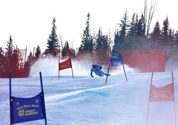A skier winds through the middle section of the giant slalom course at Copper Mountain during the 2016 Surefoot FIS Colorado Ski Cup on Nov. 30. The annual event drew nearly 400 male and female ski racers from 23 nations for four days of GS and super-G racing.