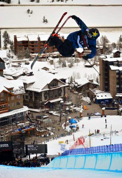 Vail's Aaron Blunck en route to qualifying for the 2017 U.S. Grand Prix freeski halfpipe finals at Copper Mountain.