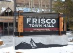The new sign in front of Frisco town hall, which cost $17,000.