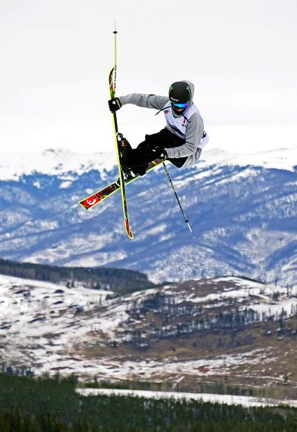 Canada's Evan McEachran floats over the second jump during the Dew Tour men's slopestyle semi-finals at Breckenridge Ski Resort in 2015. The event returns to Breckenridge with a new format Oct. 8-11, including a two-part ski and snowboard slopestyle for men and women on Dec. 9-10.