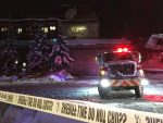 The collapse happened at around 8:15 p.m. on Wednesday night. The building was empty and no injuries were reported, although people from 70 units in a neighboring hotel and condominium were evacuated.