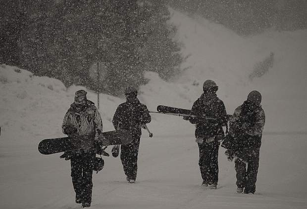 Tim Sparks sent this photo of snowboarders headed to Copper Mountain from Frisco.