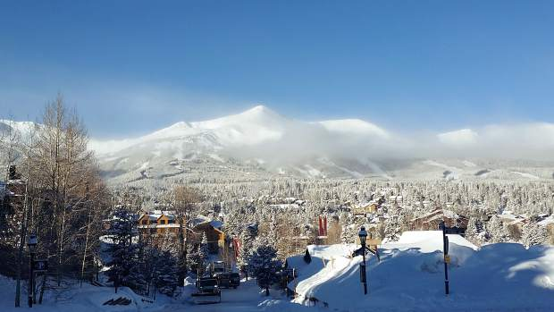 The skies cleared Friday morning to reveal a bluebird day, also bringing frigid temperatures.