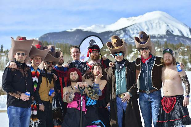 In 10-gallon foam hats and saloon-style dresses, the Bearded Ladies coordinated their costumes and came up from Denver for the Pabst Colorado Pond Hockey Tournament this weekend in Silverthorne.