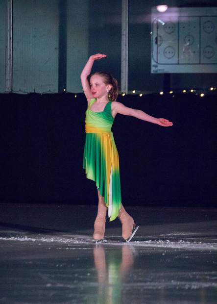 Danielle Weisberg performs March 25 for the Stephen C. West Ice Arena's spring skating exhibition