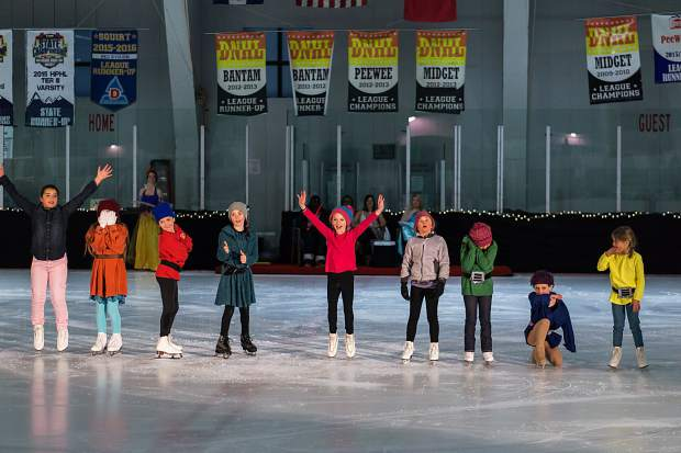 Youth figure skaters perform March 25 for the Stephen C. West Ice Arena's spring skating exhibition