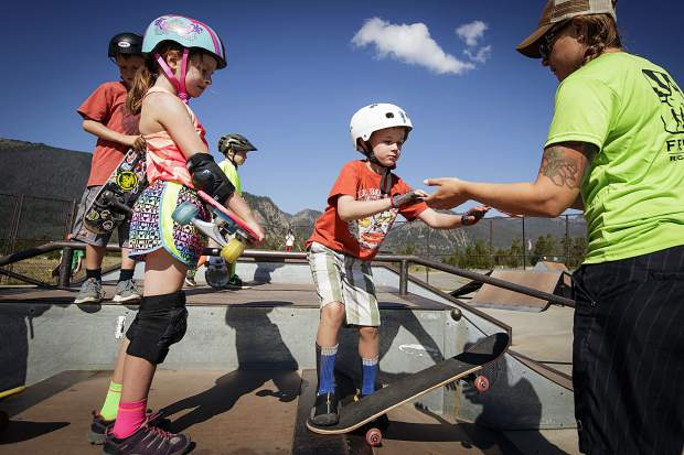 Children participating in the Frisco skate camp for kids. Joe Kusuoto    Special to the Daily  b6d595cdad70