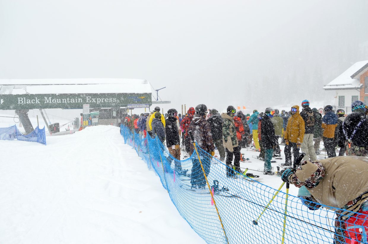 Skiers and riders came out in droves from the Front Range to enjoy the spring snow at Arapahoe Basin.