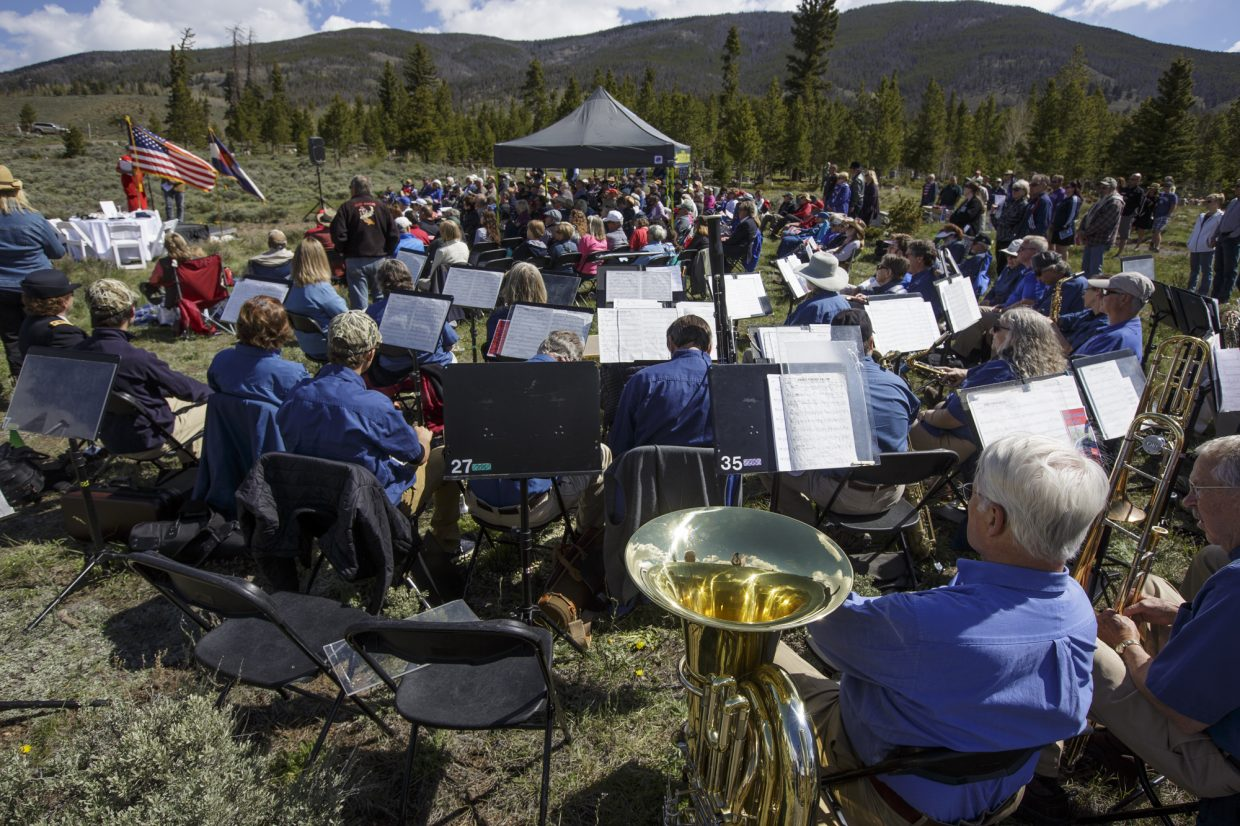 Summit Concert Band and the crowd attend the annual Memorial Day of Remembrance Ceremony Monday, May 29, 2017, at the Dillon Cemetery in Dillon.