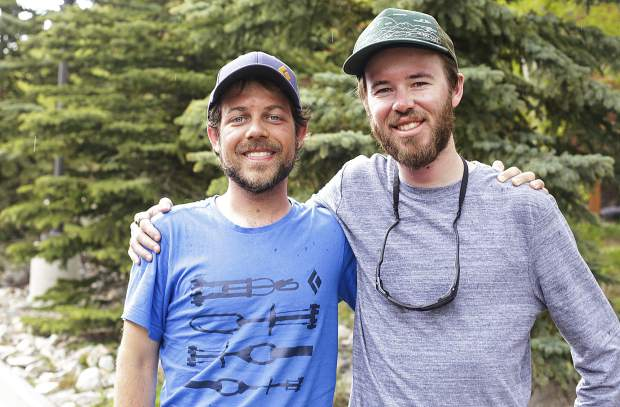 From left to right: Eric Hall, 28, and Thomas Ferrara, 30, both of Bakersfield, California, remain grateful to the Summit County Rescue Group for saving them from near the top of Quandary Peak on Monday morning after an overnight stay due to adverse conditions.