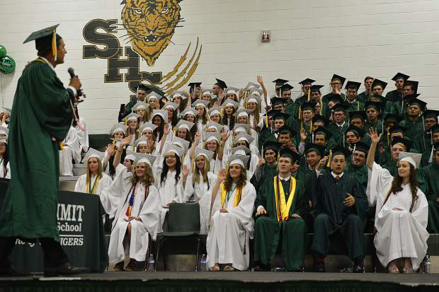 Summit High School graduation ceremony on Saturday, May 27, 2017.
