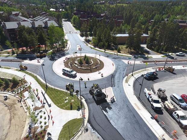 Roundabout ready for July 4 festivities in Breckenridge
