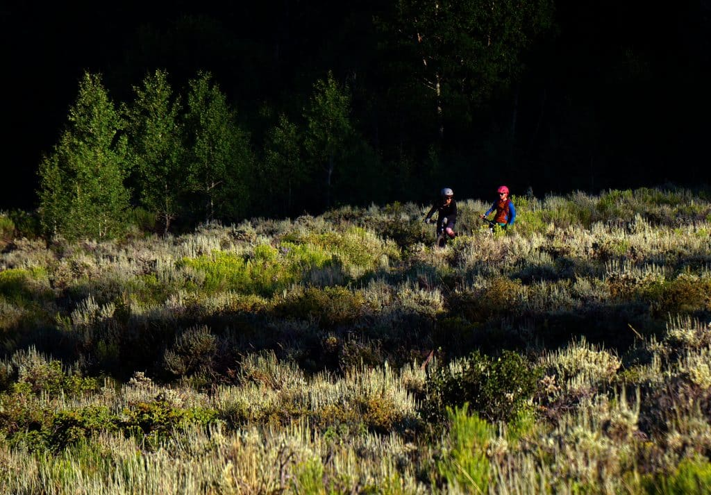 Mountain bikers enjoy looping the