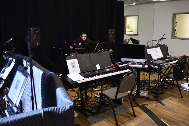 The orchestra pit isn't directly attached to any of the three indoor performance areas at the new Silverthorne Performing Arts Center. However, technology keeps the room connected so musicians can provide live music with theater performances.
