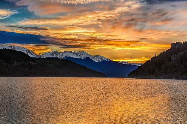 Sunset as seen from Summit Cove at Lake Dillon on June 5th.