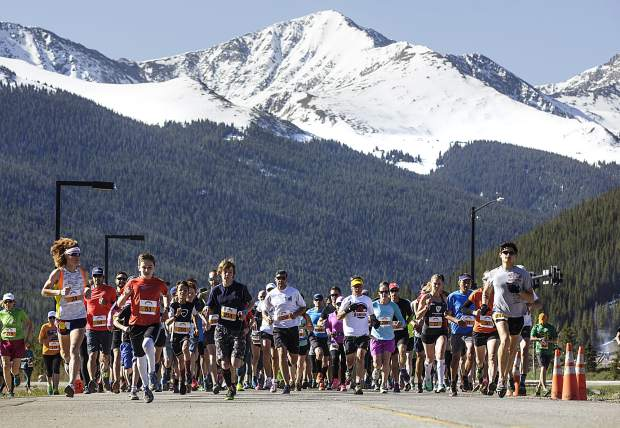 Run the Rockies participants take off for the 10K race at Copper Mountain Saturday, June 3, 2017.