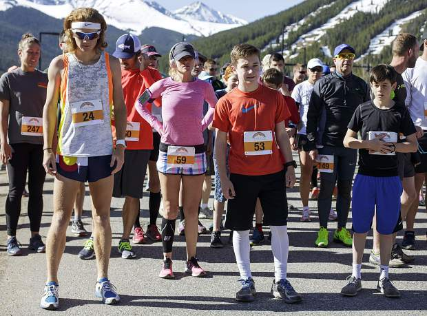 Run the Rockies participants await for the 10K race to begin at the starting line at Copper Mountain Saturday, June 3, 2017.