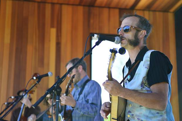 The Shaky Hand String Band performs Saturday on the stage outside the Silverthorne Performing Arts Center during a grand-opening celebration for the new $9 million facility.
