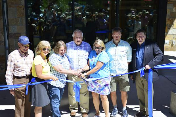 Members of the Silverthorne Town Council cut a ribbon during Saturday's grand-opening ceremonies for the new $9 million Silverthorne Performing Arts Center.
