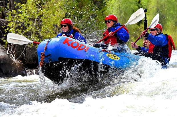 Get a taste of Blue River rapids on the 1st day of the 2017 rafting season (360 video)