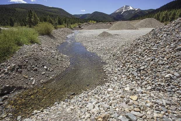 Most sections of the Swan River, like this one, lost its natural habitat due to dredge boat mining in the 19th century, as seen on Wednesday, June 14, near Mount Guyot outside Breckenridge.