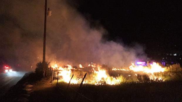 A fire broke out Thursday night near the Eagle River Village mobile home park. The Eagle County Sheriff's Office saysit may have been sparked by fireworks.