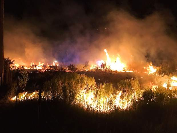 A fire broke out Thursday night near the Eagle River Village mobile-home park.