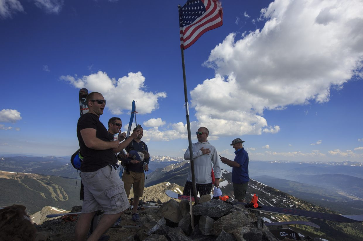 Scenes from the top of Fourth of July Bowl Tuesday, July 4, on Peak 10 near Breckenridge.