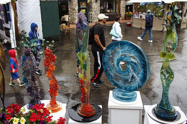 Artwork for home on display during the Keystone's River Run Village Art Festival Saturday, July 29, at Keystone Ski Resort.
