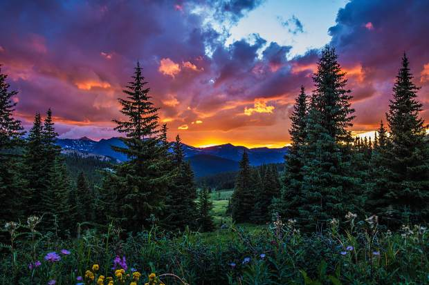 July 27 sunset from Boreas Pass.