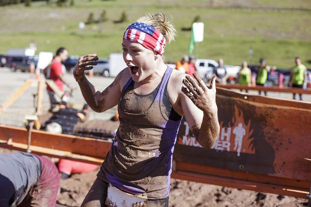 Competitors take part of the 12-mile Tough Mudder obstacle course Saturday, July 15, at Copper Mountain.