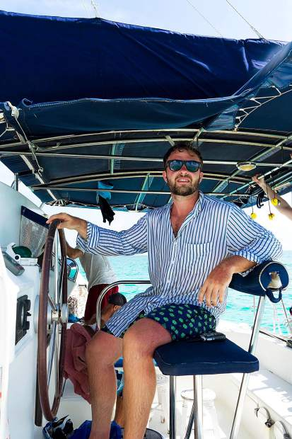 Adam Kroupa, of Sweeny, Texas, joined longtime friend Lindsay Atkins this summer on a coastal sailing excursion around parts of Cuba. The graduate of U.S. Merchant Marine Academy acted as one of three catamaran skippers for a large group of American visitors.