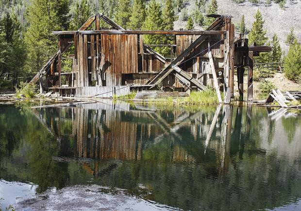 The Gold Reiling Dredge used for mining gold is seen on Wednesday, Aug. 9, along French Gulch Road near Breckenridge.