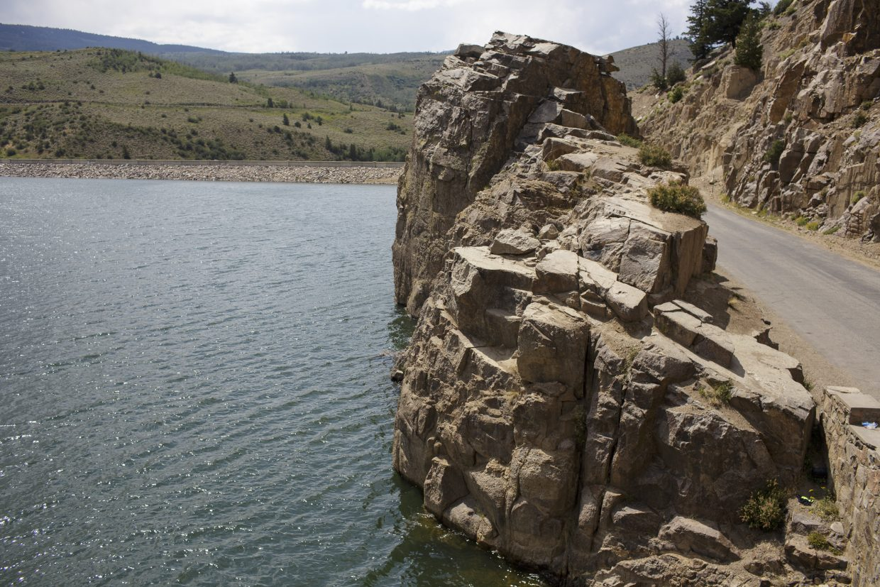 The cliff where a man jumped off on Tuesday afternoon Aug. 2 near Heeney.