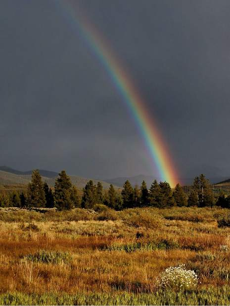 Rainbow near Lake Dillon.