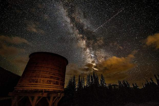 Night sky from Boreas Pass on Friday night, August 18.