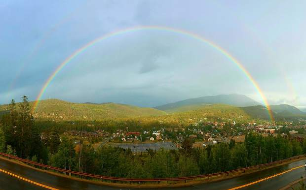 Double rainbow over Breckenridge. .