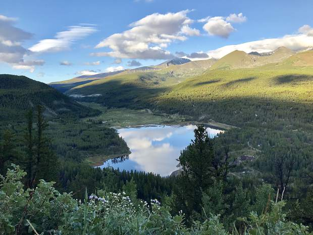 Seen from Boreas Pass on Aug. 8.