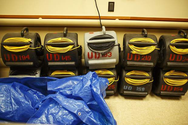 Drying machines in the Peak One Surgery Center Wednesday, Aug. 9, in Frisco.