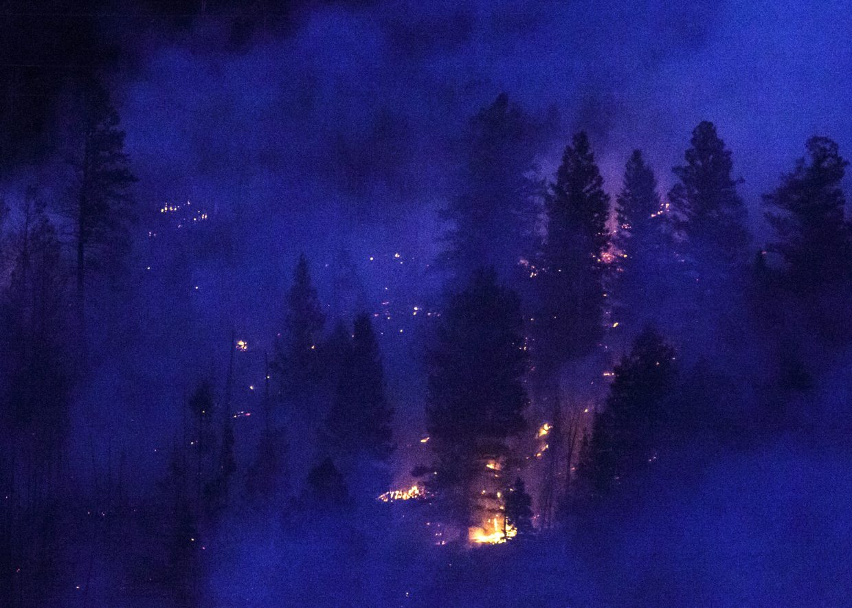 Tenderfoot Fire burns Monday night, Sept. 18, in Dillon.