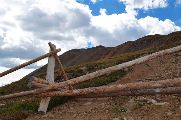 This gate marks the point where the trail is no longer driveable by car. Those that wish to summit Bald Mountain must continue on foot from this point on.