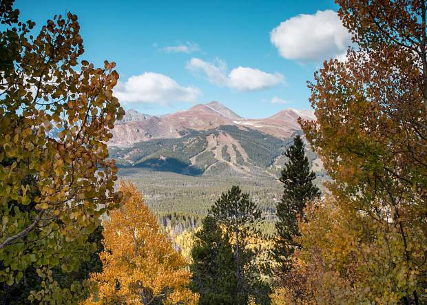 The view from Aspen Alley trail near Boreas Pass on Saturday, Sept. 17.