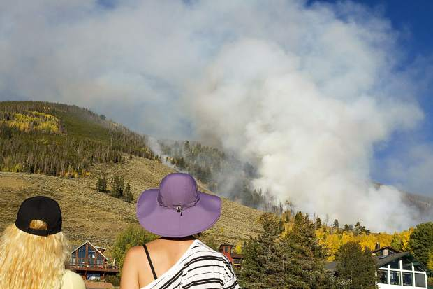 Tenderfoot2 Fire seen from Highway 6 Monday in Dillon.