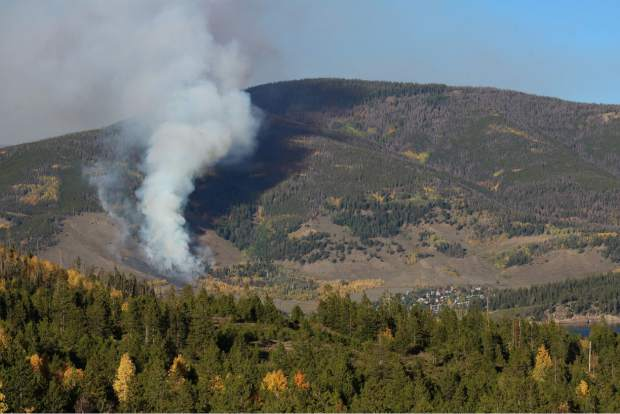 Tenderfoot2 Fire on Monday afternoon in Dillon.