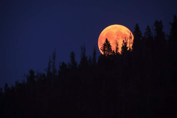 Moon seen from Swan Mountain on Sept. 5.
