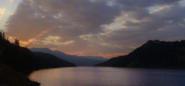 Sunset at Dillon Reservoir.