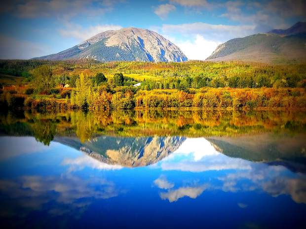 Reflection of Buffalo Mountain at The North Ponds in Silverthorne on Sept. 2.